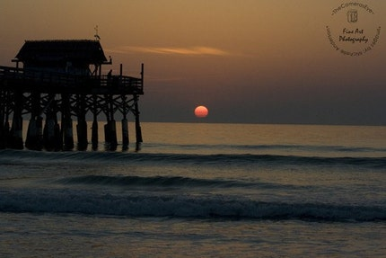 8 x 12 Sunrise at Cocoa Beach Florida