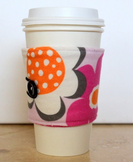Cotton Candy  Reversible Coffee Cozy
