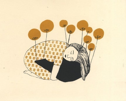 pincushion silkscreen print
