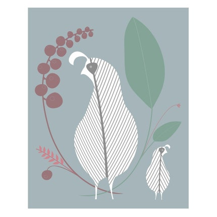 Birds of a Feather (New World Quail) - 8 x 10 Archival Giclee Print