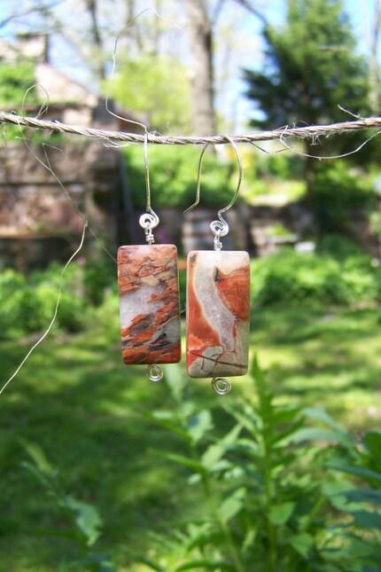 Handmade Jasper Earrings