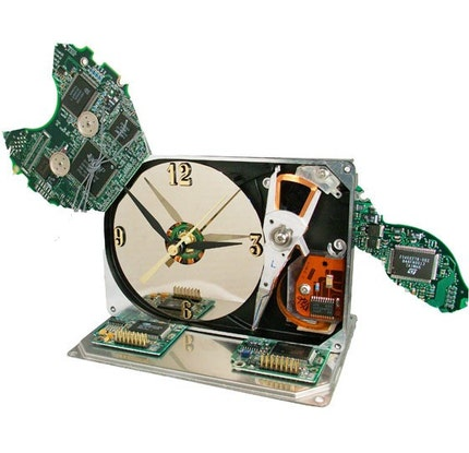 Meow...Hard Drive Clock Transformed into a Cat