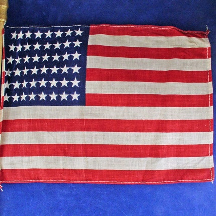 48 STAR Cloth Flag - Vintage - 4th of July - American - 26 inch