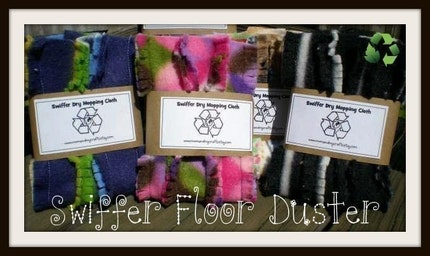1 Eco friendly and washable Swiffer floor dusters now CUSTOM You Choose the Color You Want
