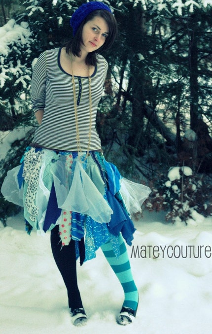 Tatter Skirt // Large // Upcycled