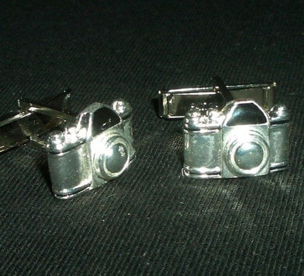 CUFF LINKS - STERLING SILVER CAMERAS