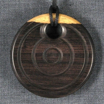 Wooden Pendant Necklace - African Blackwood