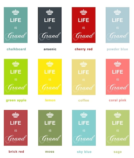 Life is Grand (Sky Blue) - 4x6 Archival Giclee Print - Customizable Colors
