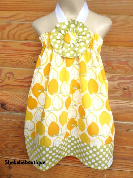 Jucy Lemon Dress Halter or straps ......... Baby............Toddler............Girls...........
