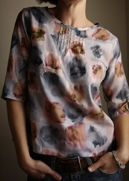 SALE - size medium pintuck blouse