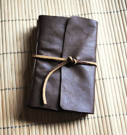 Dark Brown Leather Journal - Reserved