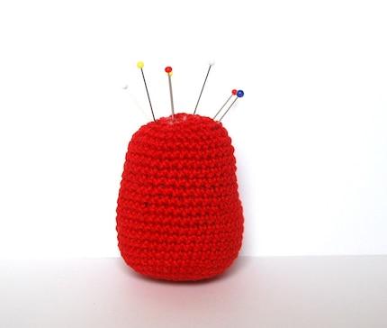 Matryoshka crocheted pin cushion  red by SpacejamHandmade on Etsy from etsy.com