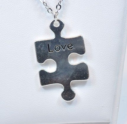 Autism Awareness Necklace by MithrilDreams on Etsy