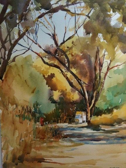 Indian Summer - 14 x 11 ORIGINAL watercolor painting