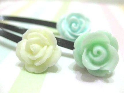 Minty mint 3 pc set of hair clips