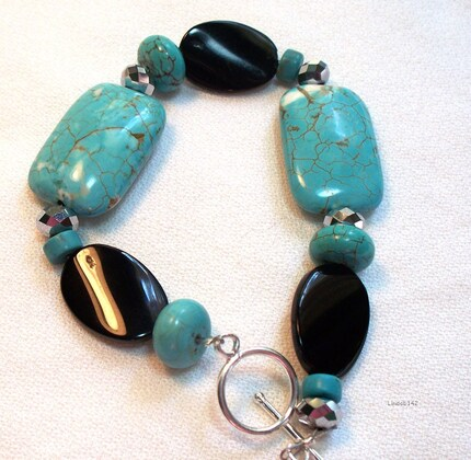Turquoise and Czech Beads Bracelet