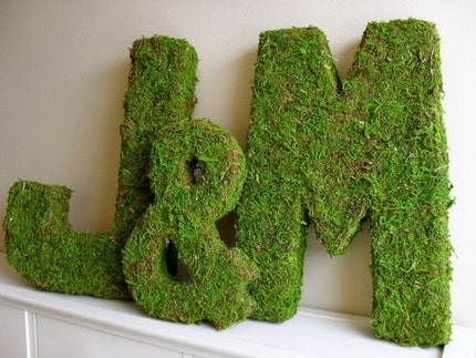 Moss Covered Wedding Monograms
