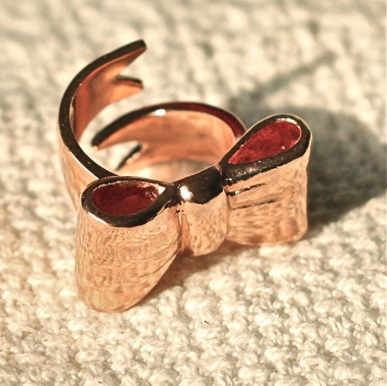 Wrap a Bow Ribbon Ring by wewear on Etsy from etsy.com