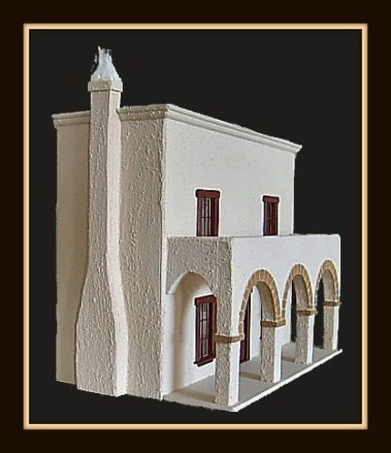 Half Inch Scale Hacienda Mexican Dollhouse
