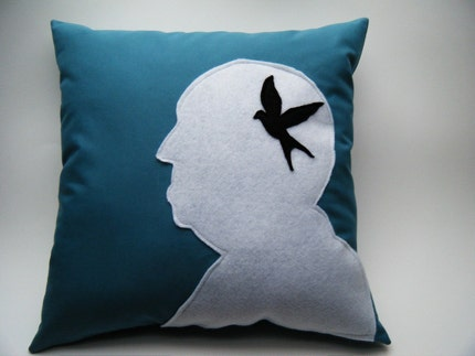 Alfred Hitchcock THE BIRDS Pillow