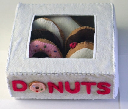 Felt Food Donuts and Box