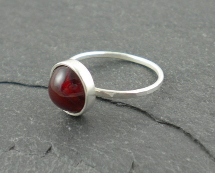 Crimson ring by SimplyRiveting on Etsy