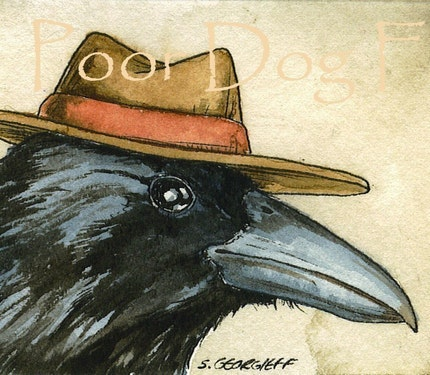 ACEO signed Print- Keene Raven  -
