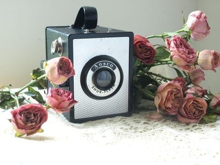 <br />1950s Ansco Shur Flash Box Camera<br />