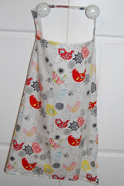 Adorable NURSING COVER - Alexander Henry Starling fabric- Ready 2 Ship