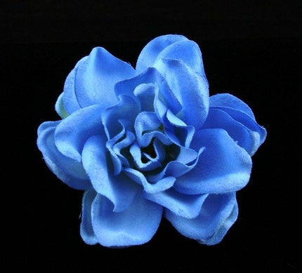 French BLUE Gardenia Bridal Hair Flower Bobby Pin / by ...