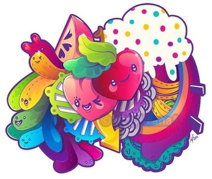 Rainbow Works 4x6 giclee Print