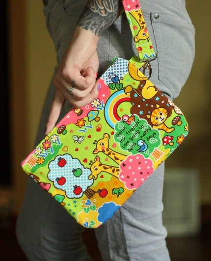 Kawaii Animals Wristlet