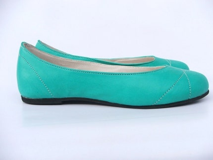 ECO FRIENDLY LEATHER FLAT SUMMER SHOE