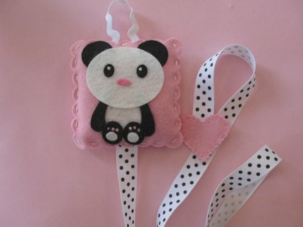Panda Bow and Clip Holder