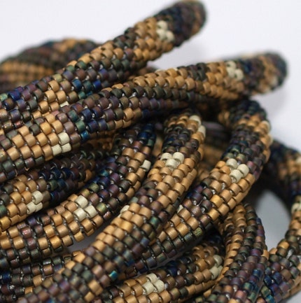 Magnificent Matte - 22K Gold and Multi Metallic Bead Crochet Rope (3236)
