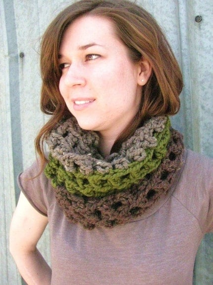 Thick Three Color Cowl