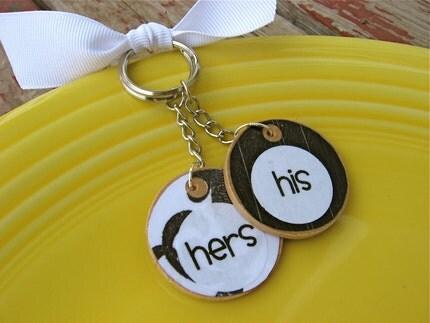 Kissy Kissy Keychains- His 'n Hers