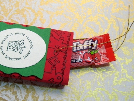 Open  Christmas Candy or Gum Stocking Stuffer Box set of 10