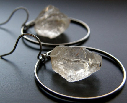 Rock Candy - Champagne Quartz Earrings