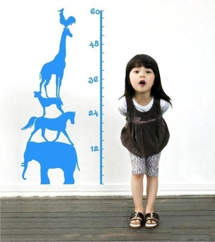 Vinyl Wall  decal---KIDS GROW CHART---Wall Art Home Decors Murals Vinyl Decals  Stickers