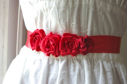 Ruby Red Garland Sash