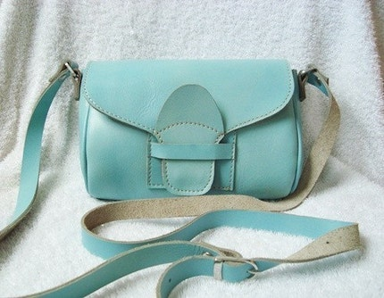 THE WONDERFUL SOFT LIGHT BLUE BAG LEATHER./ FREE GIFT and SALE