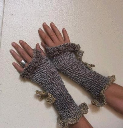 grey yellow Romantic Gloves LAST PAIR