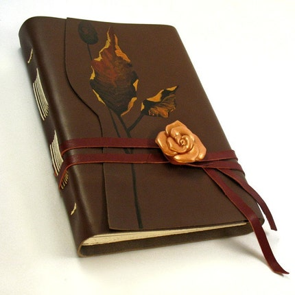 Nature's Bouquet - Hand Bound Leather Journal