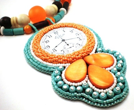 Time For Tropical Orange Necklace