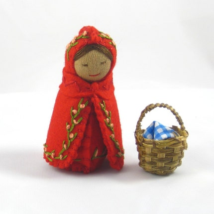 Little Red Riding Hood Doll With Basket - Waldorf inspired