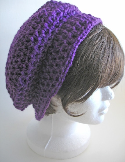 Aubergrine Summer/Autumn Beret -Free Shipping