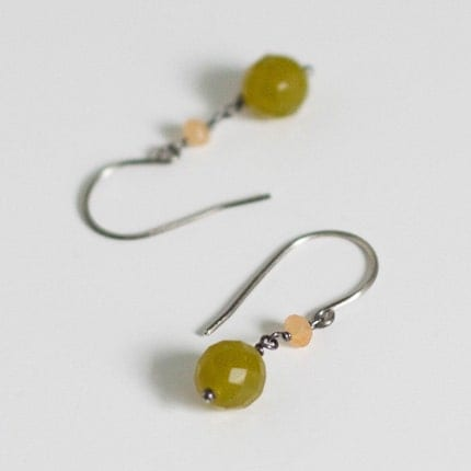 april earrings         . antiqued sterling silver       .