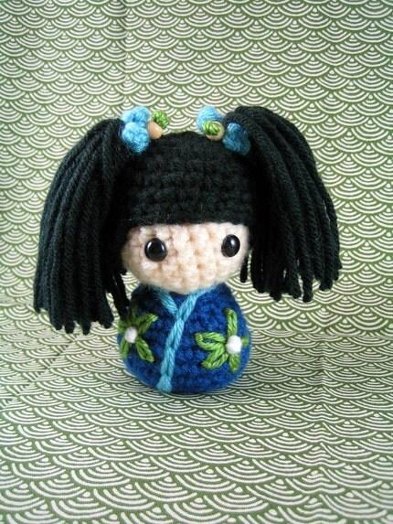 Ai-chan, an amigurumi kokeshi doll