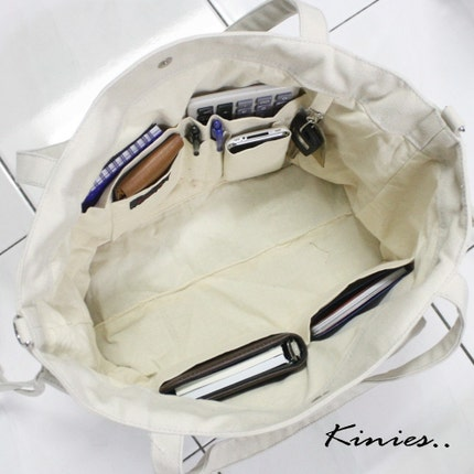 NEW - EZ Canvas Bag in DARK TEAL